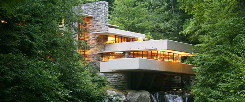 Frank Lloyd Wright's Fallingwater, Pennsylvania